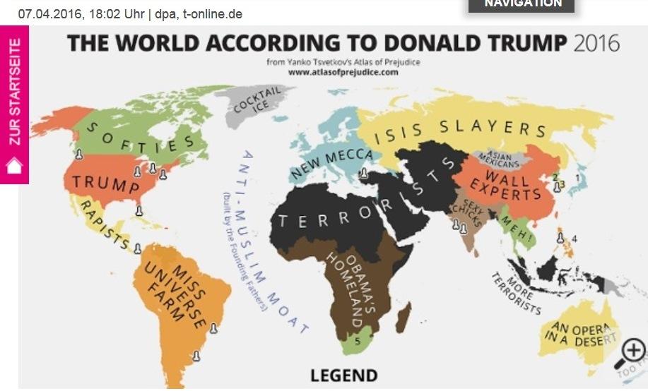 Trumps Weltkarte